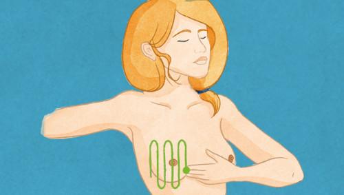 Brust abtasten 6